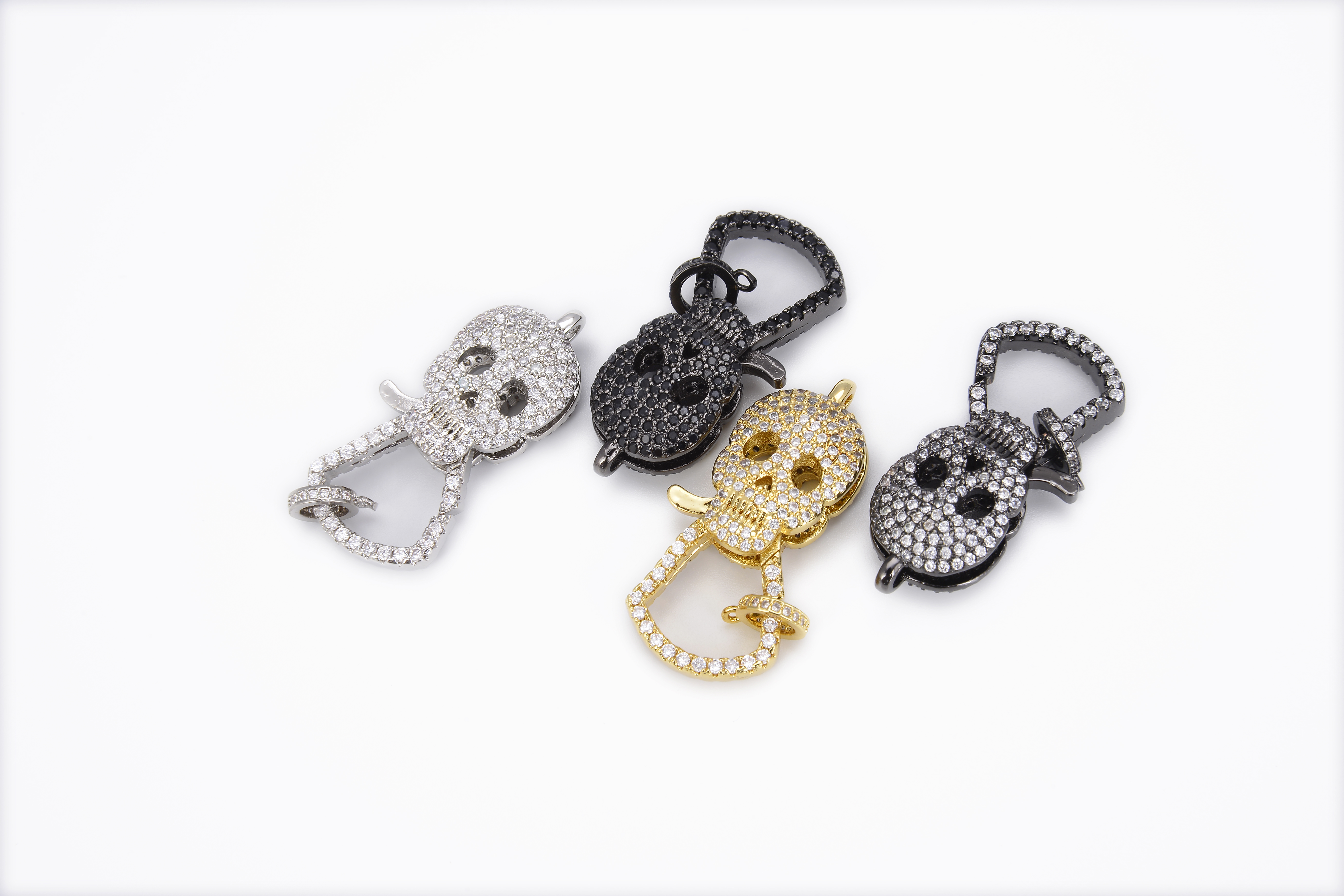 1 pc perfect for Jewelry making. 21mmx14mm CZ Micro Pave Lobster Clasp