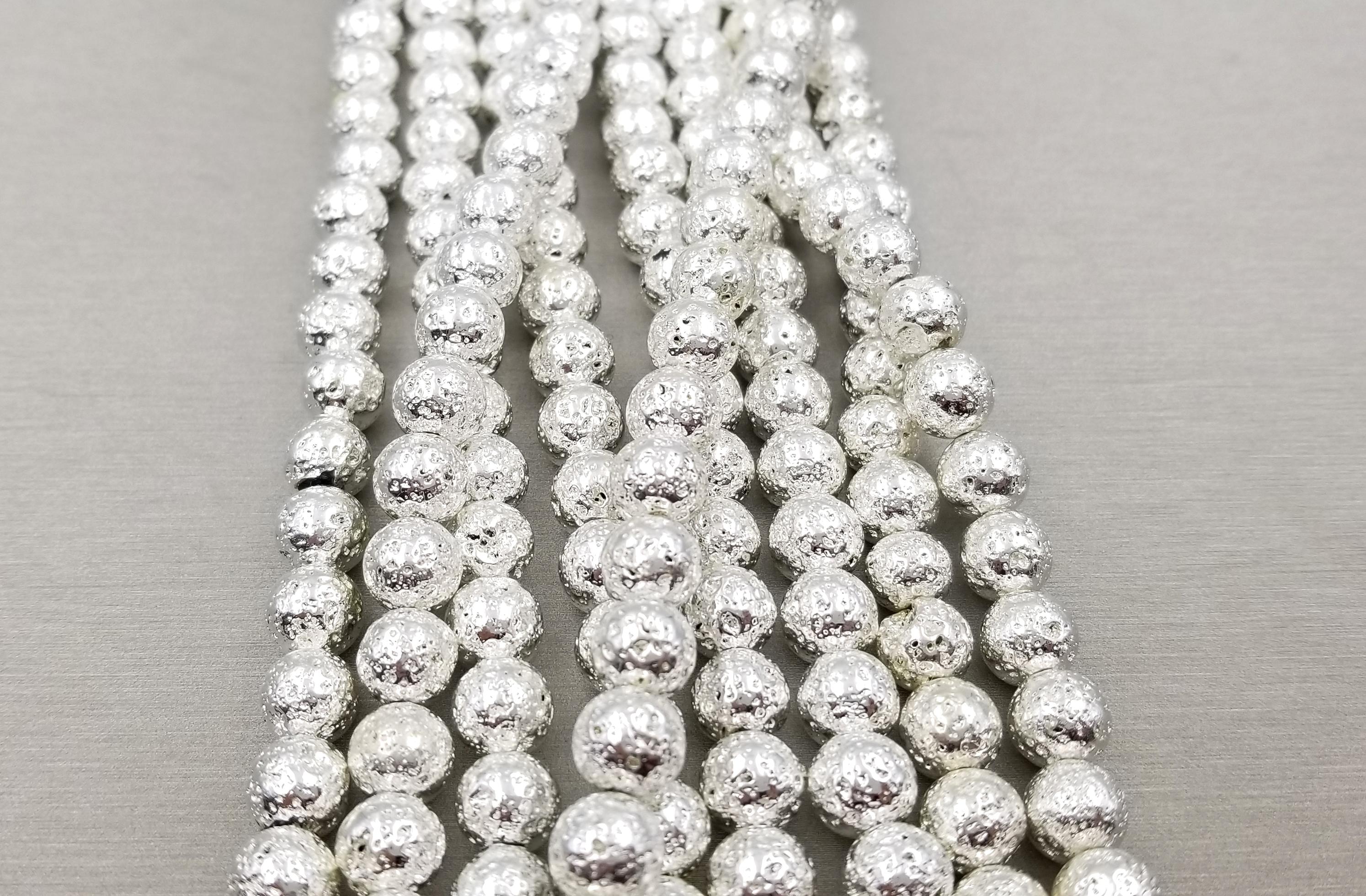 8mm Lava Beads Full Strand