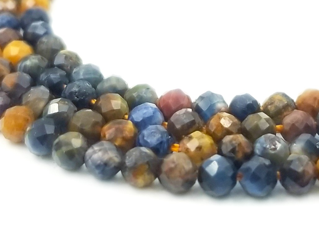 Natural Pietersite Beads 8 Strand BH#231 Pietersite faceted Pear shape briolette beads AAA+++ Pietersite gemstone for jewelry 24-31 MM