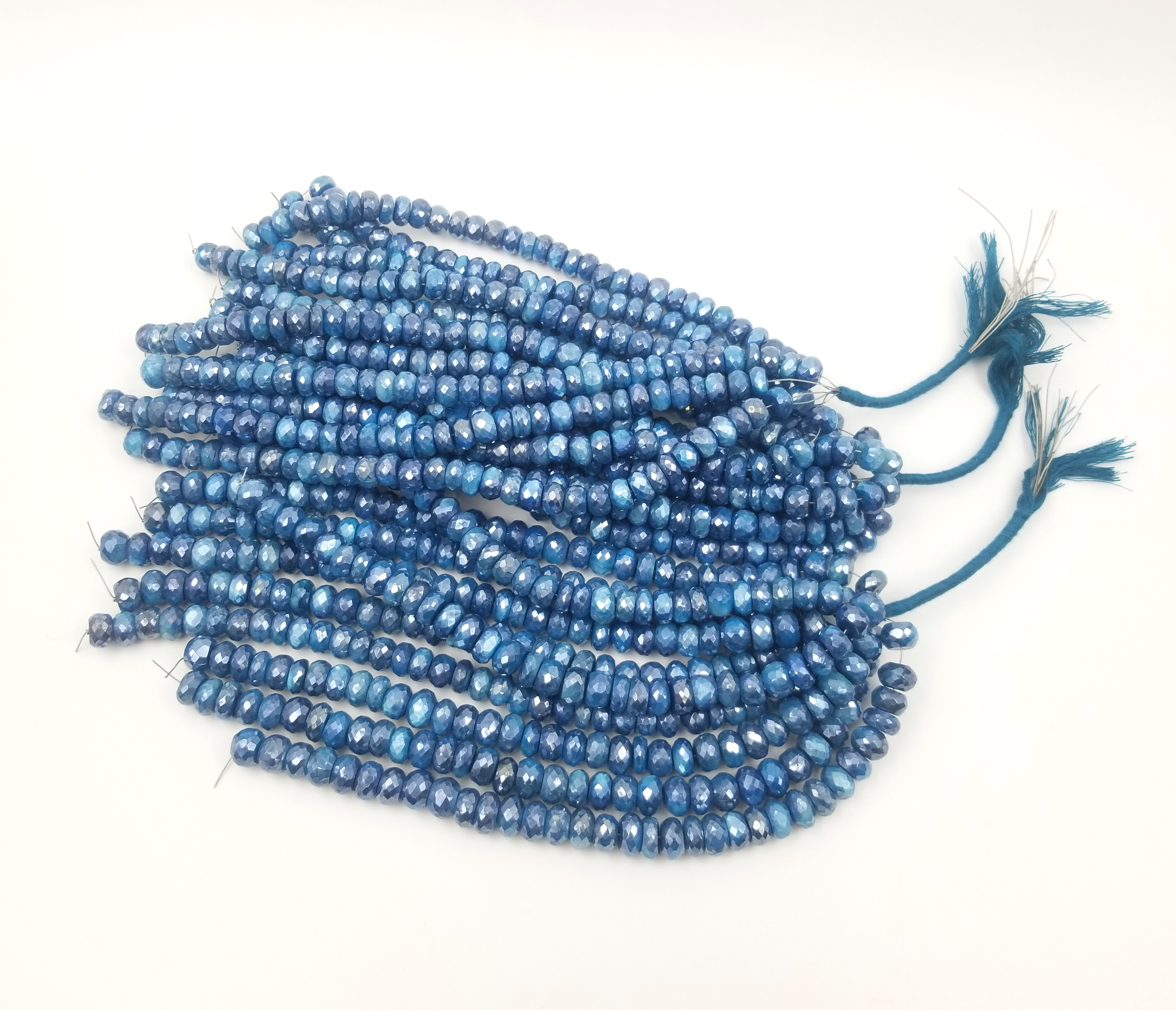 Natural Moonstone Mystic Plated Rondelle Micro Faceted Cut Gemstone Beads,Mystic Plated Moonstone Beads,Rondelle Cut Gemstone Beads.