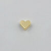 BD090 Small Heart Spacers for Bracelet Necklace in 18K Gold Filled Gold Heart Spacer Beads Dainty Heart Spacer Bead Brass Spacer Beads