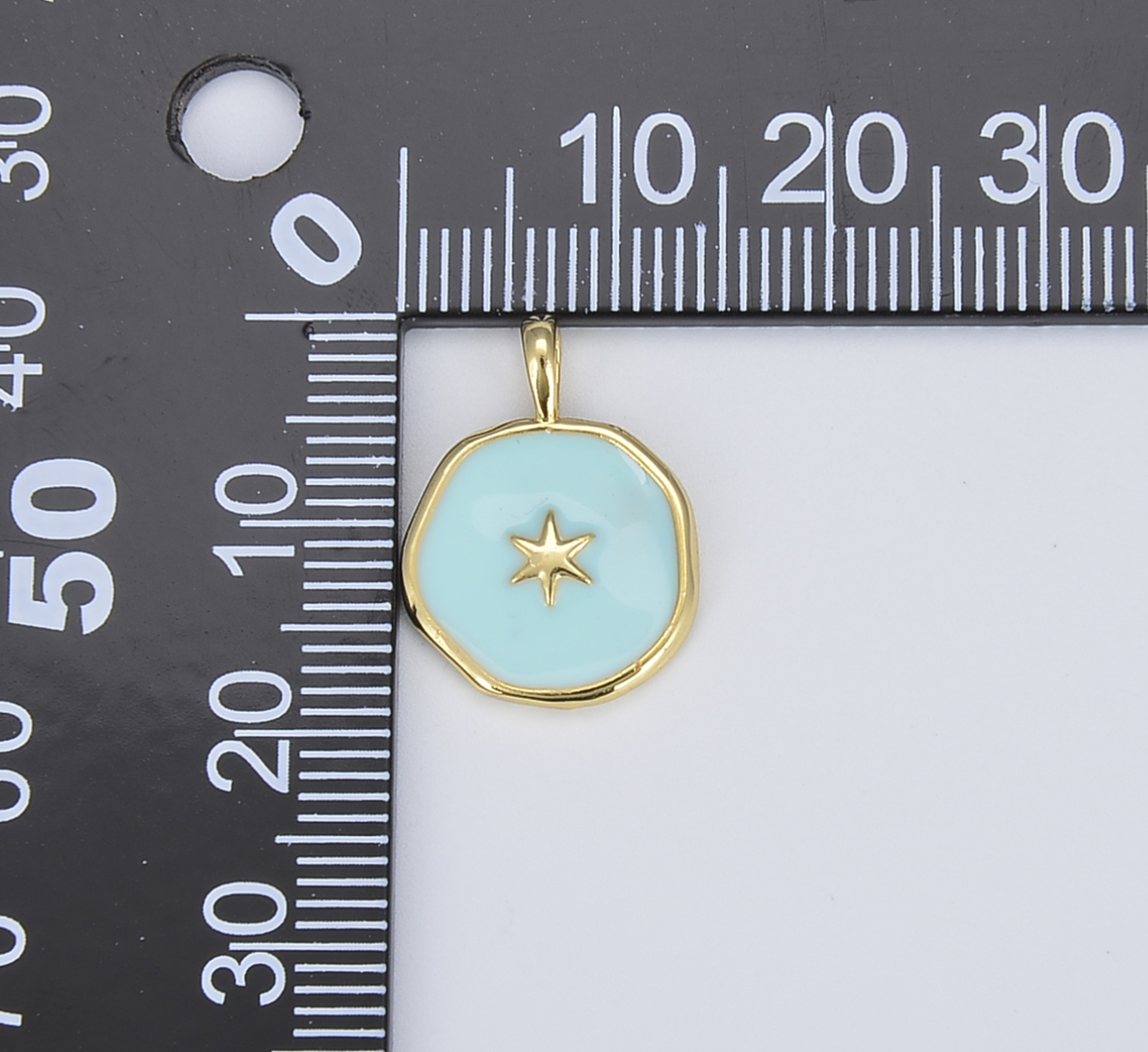 Celestial Jewelry Minimalist Jewelry Making supply D-354 Gold Star Pendant 25x10mm 24k Gold Filled North Star Charms
